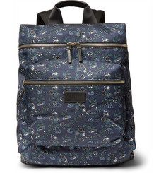 Paul Smith Logan Leather-Trimmed Liberty Print Canvas Backpack