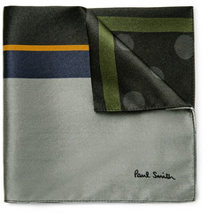 Paul Smith Printed Silk-Satin Pocket Square