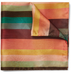Paul Smith Striped Silk Pocket Square