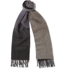 Paul Smith Dégradé Wool and Cashmere-Blend Scarf