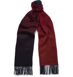 Paul Smith Double-Faced Lambswool and Cashmere-Blend Scarf
