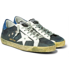Golden Goose Deluxe Brand - Superstar Distressed Leather-Trimmed Denim Sneakers