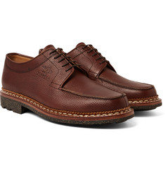 Yuketen - + Heschung Pebble-Grain Leather Derby Shoes