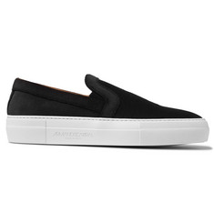 Armando Cabral Bowery Embossed Velvet Slip-On Sneakers
