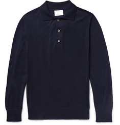 Handvaerk Knitted Pima Cotton Polo Shirt