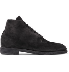 Guidi Suede Lace-Up Boots