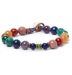 Mikia + United Arrows Rainbow Multi-Stone Bead Bracelet