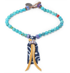 Mikia Turquoise and Glass Bead Bracelet