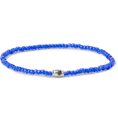 Luis Morais Glass Bead and White Gold Bracelet