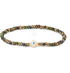 Luis Morais Glass Bead and Gold Bracelet