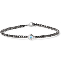 Luis Morais Hematite Bead and White Gold  Bracelet