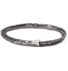 Luis Morais Hematite Bead and White Gold Wrap Bracelet
