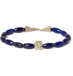 Luis Morais - Lapis, Gold and Diamond Bracelet
