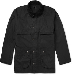 OrSlow Riders Corduroy-Trimmed Waxed-Cotton Jacket
