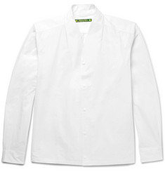 Sasquatchfabrix. Shawl-Collar Cotton-Blend Poplin Shirt