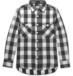 Sasquatchfabrix. Sashiko-Stitched Checked Cotton Shirt