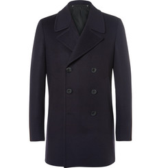 Paul Smith Slim-Fit Double-Breasted Wool and Cashmere-Blend Peacoat