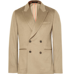 Paul Smith Beige Soho Slim-Fit Double-Breasted Cashmere Blazer