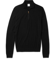 Paul Smith Slim-Fit Funnel-Neck Merino Wool Half-Zip Sweater