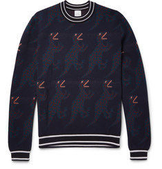 Paul Smith Dinosaur Intarsia Wool and Silk-Blend Sweater