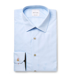Paul Smith - Blue Slim-Fit Cotton-Poplin Shirt