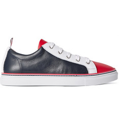 Thom Browne Colour-Block Leather Sneakers