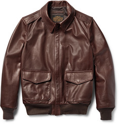 Schott A-2 Full-Grain Leather Bomber Jacket