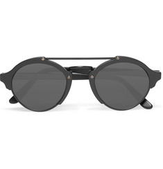 Illesteva - Milan Round-Frame Matte-Acetate and Metal Sunglasses