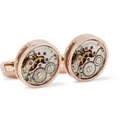 TATEOSSIAN Skeleton Rhodium-Plated Cufflinks