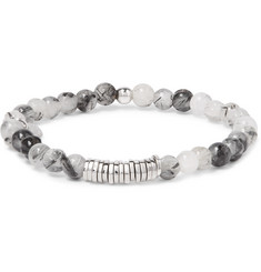 TATEOSSIAN - Quartz and Silver Bead Bracelet