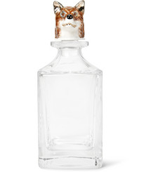 Deakin & Francis - + Dartington Crystal Sterling Silver-Plated and Enamelled Fox Decanter