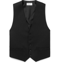 Saint Laurent Black Slim-Fit Wool Waistcoat