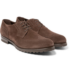 Harrys of London - Gage Suede Wingtip Brogues