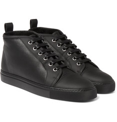 Harrys of London - Gus Shearling-Lined Leather High-Top Sneakers