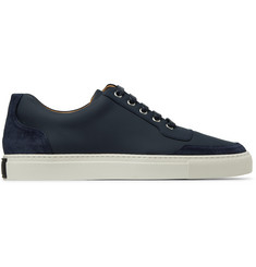 Harrys of London Mr. Jones 2 Leather-Panelled Suede Sneakers