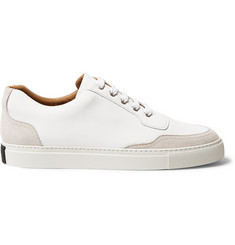 Harrys of London Mr. Jones 2 Suede-Panelled Leather Sneakers