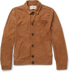 Oliver Spencer Buffalo Slim-Fit Suede Jacket