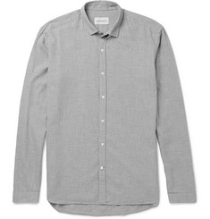 Oliver Spencer Clerkenwell Herringbone Cotton-Flannel Shirt