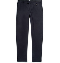 Oliver Spencer - Fishtail Slim-Fit Cotton and Wool-Blend Trousers