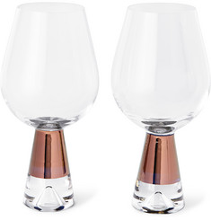 Tom Dixon Tank Set of Two Painted Wine Glasses
