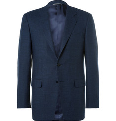 Canali Blue Venezia Stretch-Wool Suit Jacket