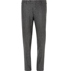Canali - Flecked Wool and Silk-Blend Trousers