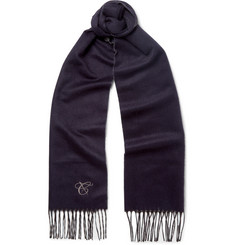Canali Double-Faced Silk and Cashmere-Blend Scarf