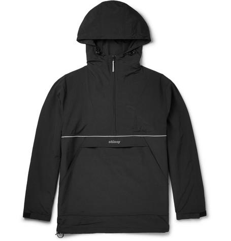 Slim-fit Shell Half-zip Hooded Jacket