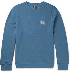 Stüssy Fleece-Back Cotton-Blend Jersey Sweatshirt