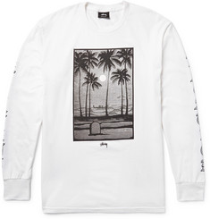 Stüssy Permanent Vacation Printed Cotton-Jersey T-Shirt