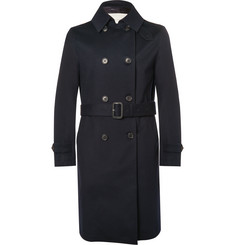 - Slim-Fit Double-Breasted Storm System® Wool Trench Coat