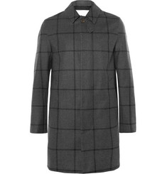 Mackintosh Windowpane-Checked Storm System® Wool Mac