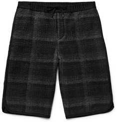 Public School Tryan Checked Textured-Flannel Shorts