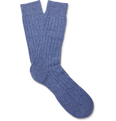 Pantherella Waddington Ribbed Cashmere-Blend Socks